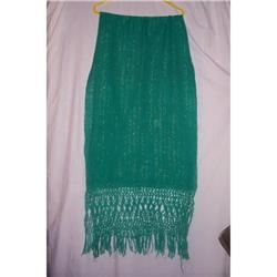 Vintage Mexican  Woven Light Wool Shawl #2375842