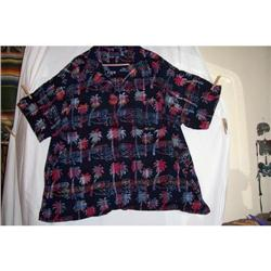 Vintage Cotton Hawaiian Shirt Palm Trees #2375843