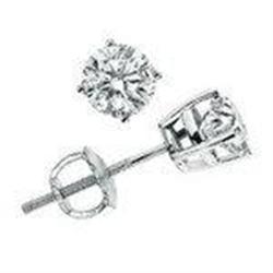 F SI 14kt White Gold Diamond Earrings  #2375852