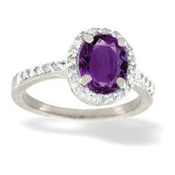 Amethyst & Diamond Ring #2375856