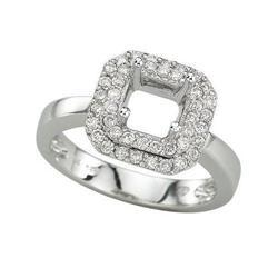 Princess Cut Semi Mount Ring #2375864