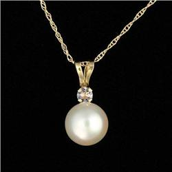 White Pearl & Yellow Gold Chain #2375875
