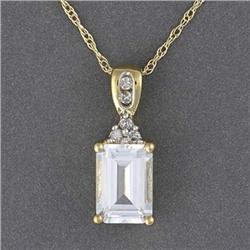 Topaz & Diamond Necklace #2375876