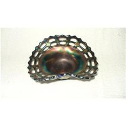 Fenton Carnival GlassWeave Bowl Open Edge #2375882