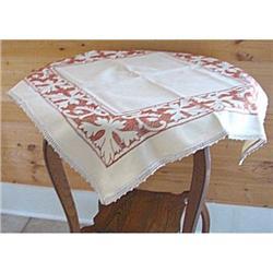 Tablecloth Tea Fall Cross Stitch Leaves #2375900