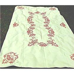 Tablecloth Yellow Cross Stitched Large #2375901