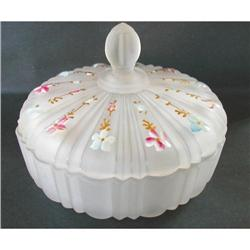 Old Cafe Satin Painted Covered Powder Candy #2375902