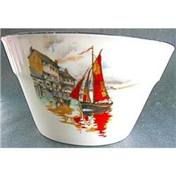Bowl Sugar Myott VanDyke 1930s Ship Design #2375910