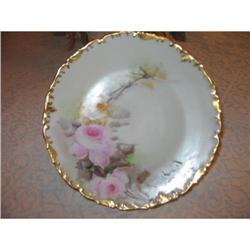T & V LIMOGES PLATE WITH ROSES #2375923