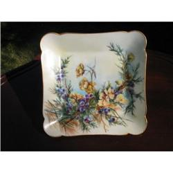 EARLY LIMOGES  H. PAINTED  PLATE #2375924