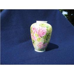 VICTORIAN ROSE HAND PAINTED VASE #2375935