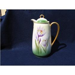 HAND PAINTED CHOCOLATE POT #2375937