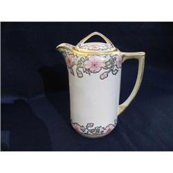 NIPPON H.  PAINTED  CHOCOLATE POT  #2375938