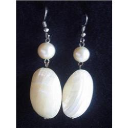 Earrings Chandelier Mother of Pearl   #2375959