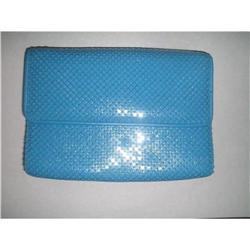 Whiting & Davis Blue Alumesh Shoulder Bag  #2375963
