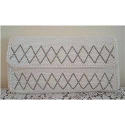 Deco Inspired Bugle Bead Evening Clutch Purse #2375971