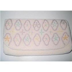Seed Bead Clutch Purse, Handbag - Pastels #2375974