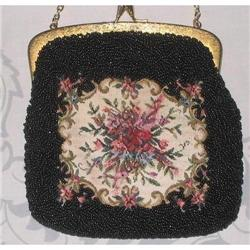 Tapestry and Seed Bead Shoulderbag  #2375975