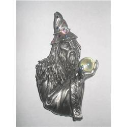 "Magnificent Figural Pewter ""Magician"" Brooch by#2375976"