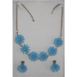 Rhinestone Necklace & Earrings Early Plastic  #2375981