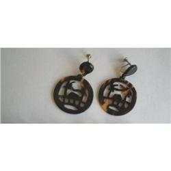Art Deco Lucite Dangle Earrings - Exotic Screw #2375983