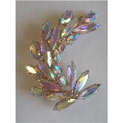 Large Brooch of Aurora Borealis Navette #2375987
