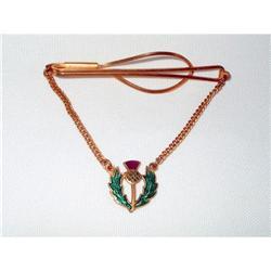 Tie Bar GF & Enamel Guilloch Scottish Emblem #2375992
