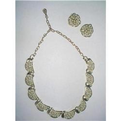 "Coro Necklace & Earrings Demi Parure ""Mimosa"" #2376015"