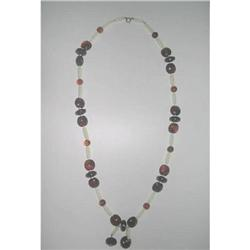Lucite Root Beer Flapper Sautoir Necklace  #2376019