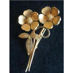 Bond Boyd Gold Filled Flower Brooch Pin #2376021