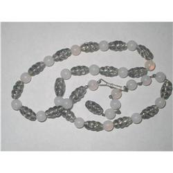 Art Deco Grey Swirled Art Glass & Frosted Glass#2376026