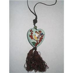 Oriental Puffy Heart  Enamelled Necklace #2376029