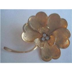 Heart Shaped Brooch Pin Gold Filled with #2376048