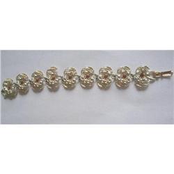 Coro Signed Rhinestone Flower Bracelet #2376060