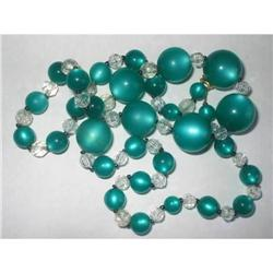 """Necklace Bright Green Moonglow Lucite - 24"""" #2376065"""