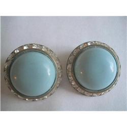 Lucite & Channel Set Rhinestone Earrings #2376067