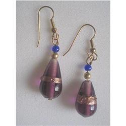 Vintage Art Glass Chandelier Earrings #2376073