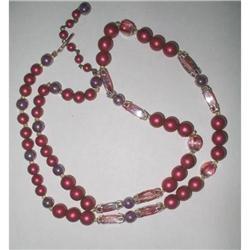 Necklace Aurora Borealis Art Glass  #2376078