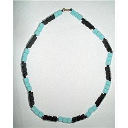 "Art Deco Glass Bead Necklace 18"" #2376103"