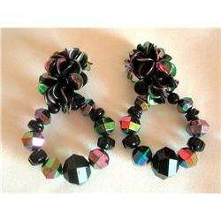 Huge Carnival Lucite Hoop Earrings #2376104