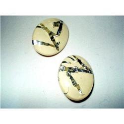 Earrings Embedded Lucite - Huge Oval #2376105