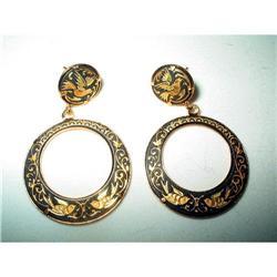 Damascene Spanish Toledoware Earrings #2376110