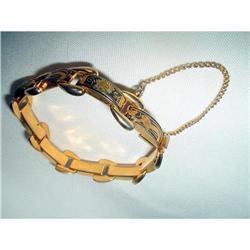 Damascene Spanish Toledoware Link Bracelet #2376120