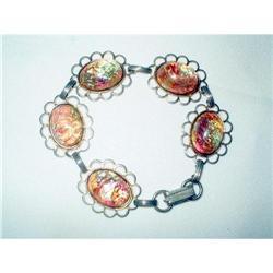 Art Deco Dragon's Breath Cabochon Bracelet #2376128