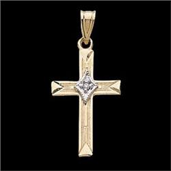GOLD PENDANT CROSS DIAMOND #2376135