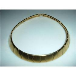 Napier Goldtone Deco Style Link Necklace #2376147