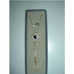 Rhinestone/22K Gold EP Bolo Necklace #2376148