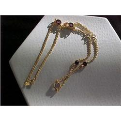 "11/22"" Goldchain w/ 5 Stones of Zircon and #2376163"