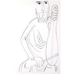 Shahn Ben Hallelujah Suite- Harp Lithograph#2376232