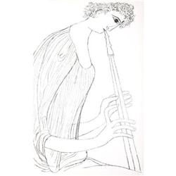 Shahn  Ben Hallelujah Suite- Flute Lithograph#2376233